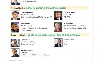 2020 World Refrigeration Day – International Webinar: Cold Chain 4 Life